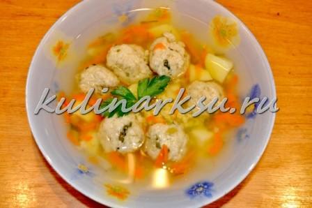 Суп с рыбными фрикадельками. Диетическое блюдо