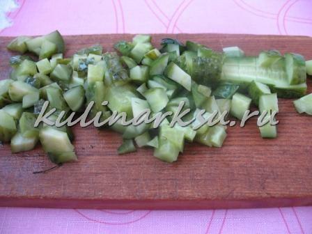 Салат из зеленой фасоли и свеклы