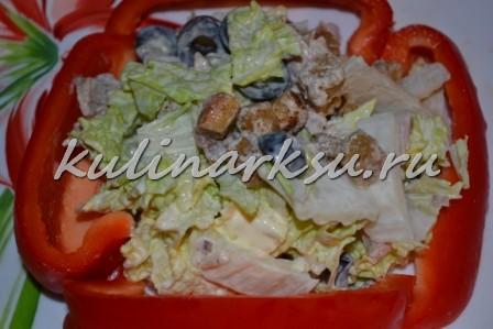 Салат из курицы «Наслаждение»
