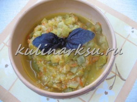 Кабачковое рагу. Диетическое блюдо