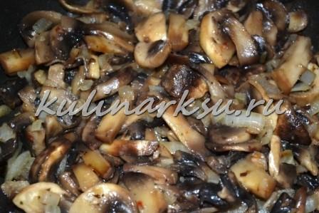 Бризоль с курицей и грибами