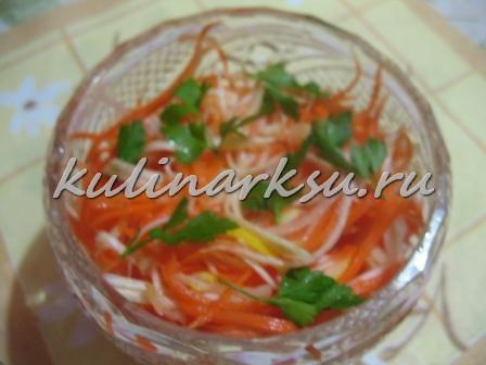 Салат витаминный из сельдерея