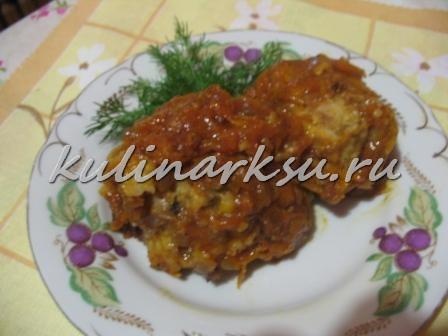 Рыба в маринаде с овощами