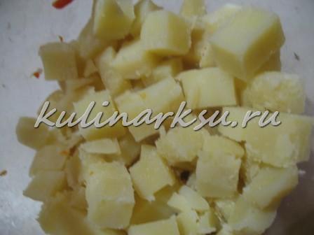 Винегрет с кукурузой и яблоками