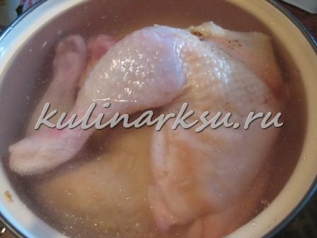 Оригинальное заливное из курицы