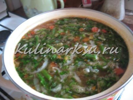 Постный овощной суп для похудения. Диетическое блюдо