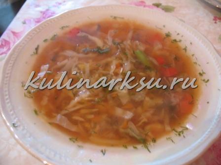 Постный овощной суп для похудения