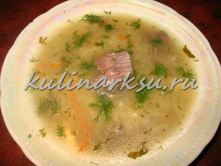 Суп с рисовой лапшой « паутинка»