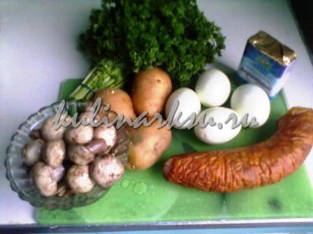 Салат « Грибы под шубой»
