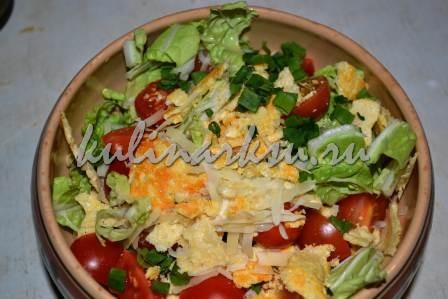 Праздничный салат с пармезаном