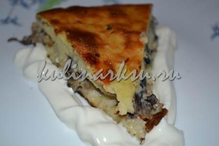 Картофельный пирог с грибами
