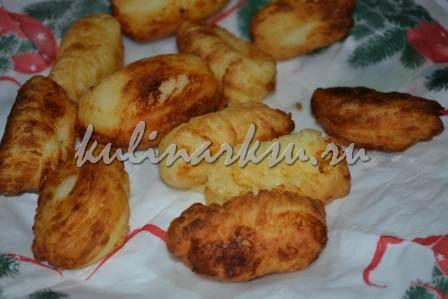 Творожные пончики на салфетке