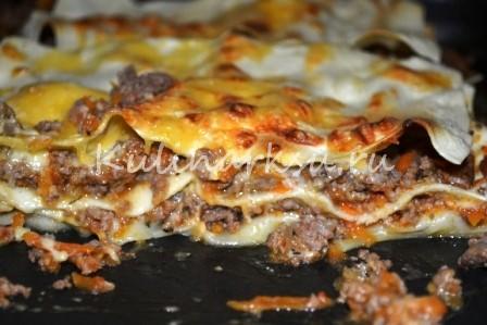 Лазанья. готовое блюдо