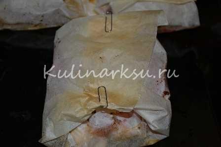 Вкусная куриная грудка в пергаменте