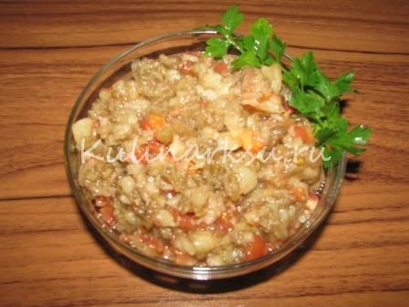 Овощная икра из печеных баклажан
