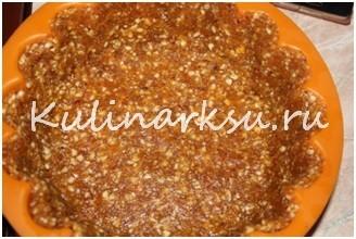 Черничный чизкейк с орехами без выпечки